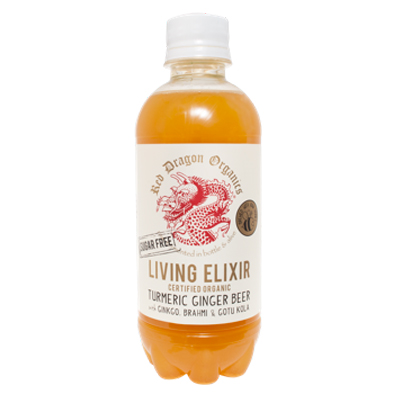 red dragon organics orrganic living elixir turmeric ginger beer